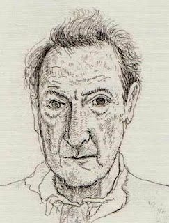 Lucien Freud by David Hockney