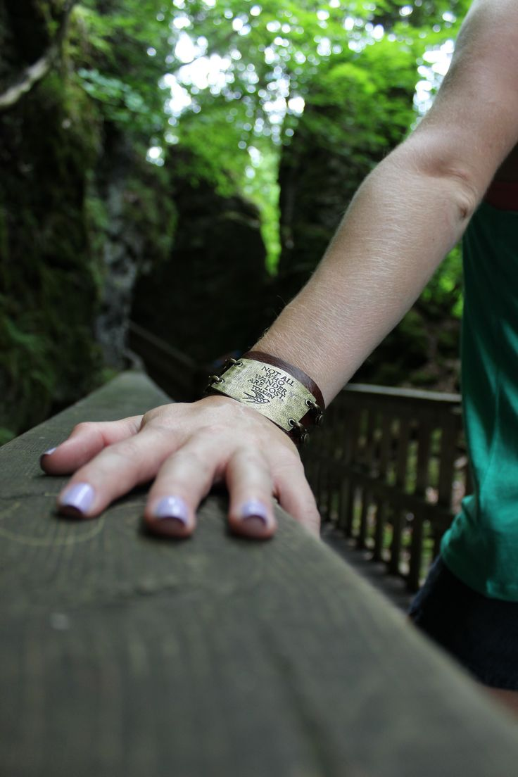 """Mono Cliffs, Provincial Park, Ontario, Canada. Bracelet by Lenny & Eva. """"Not all who wander are lost"""""""