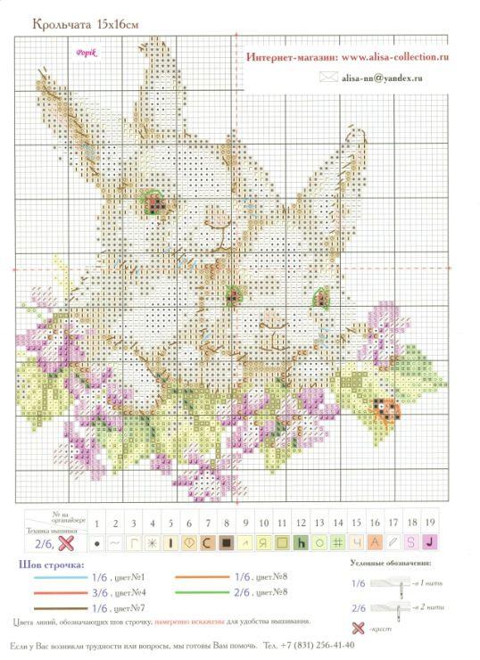 dolcissimi conigli a punto croce