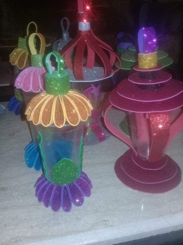 فوانيس رمضان من الفوم جليتر Felt Christmas Holiday Decor Christmas Ornaments