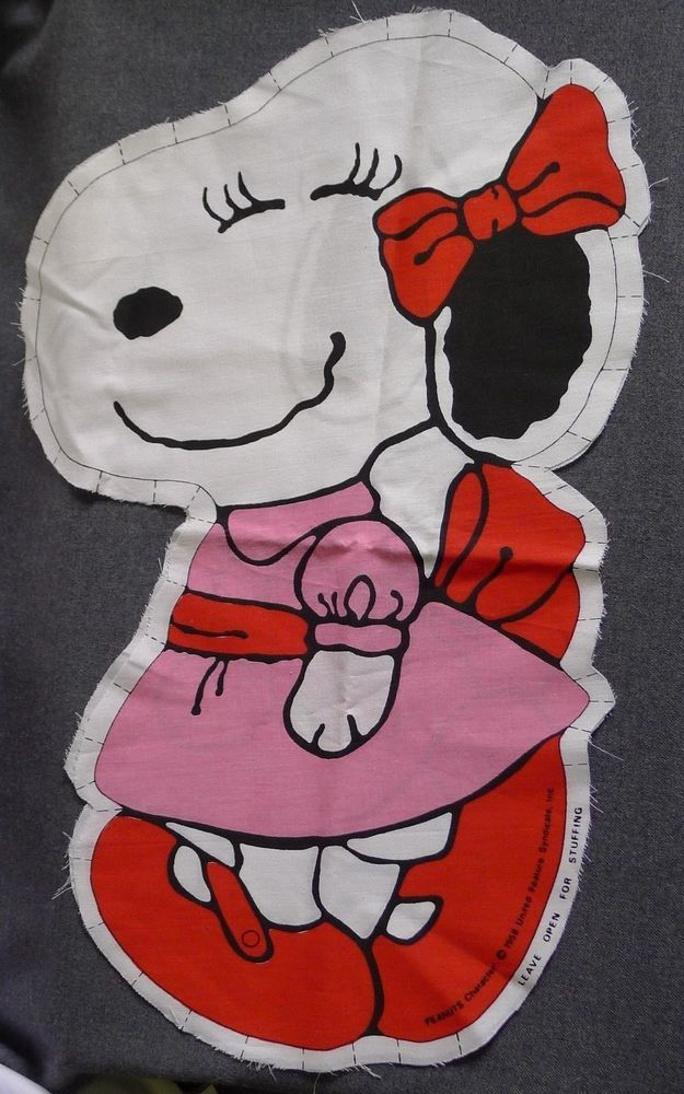 Snoopy's Girlfriend Belle Cut Sew And Stuff Pillow Fabric Peanuts Crafts HTF