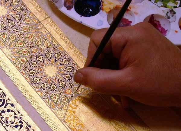 Fereidoon Joghan Iranian illuminator (tazhib) artist