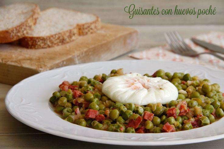 Guisantes con huevos poché - MisThermorecetas