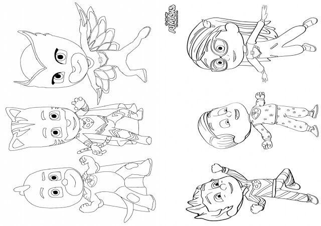 Ucretsiz Pj Masks Boyama Kitabi Boyama Kitaplari Desenler Kitap