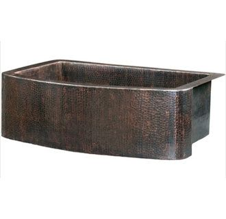 ... Farmhouse Single Bowl Hand Hammered Copper Sink from the Legacy