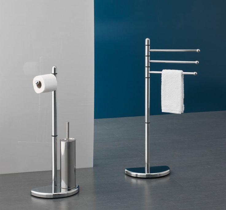 HIBISCUS stojan s držákem na toaletní papír a WC štětkou, chrom, SAPHO E-shop