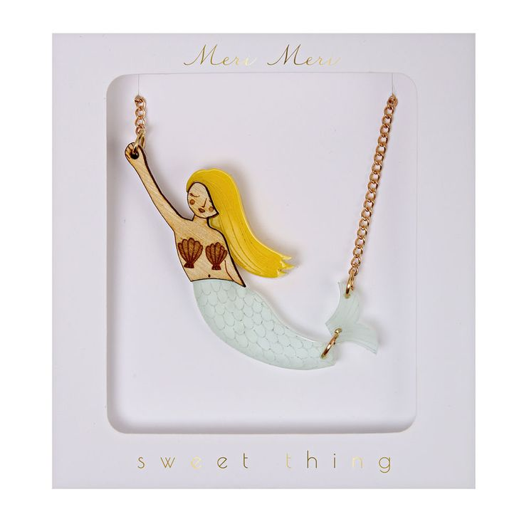 Enchant your friends with this magical Mermaid Necklace from Meri Meri.