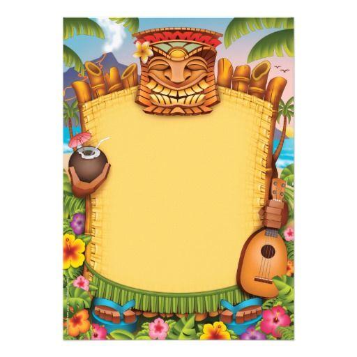 Hawaiian Blank Invitation Background