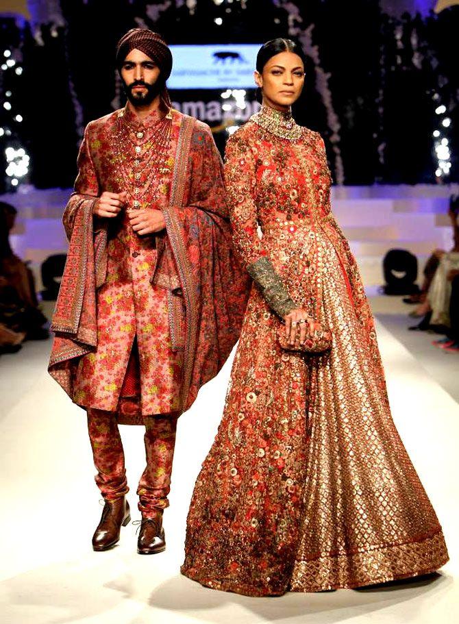 Sabyasachi #Bridal and #GroomsWear Amazon Fashion Week #IndiaFashion