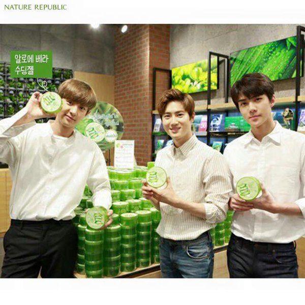 160309 Nature Republic Facebook update - EXO