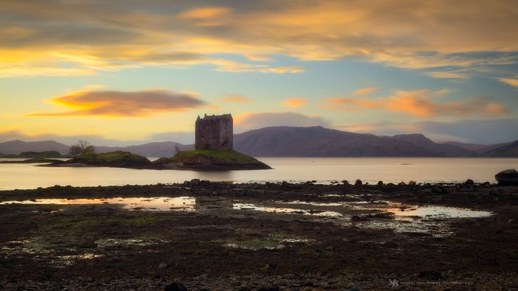 Sea Castle - There has been a castle on this site since 1320. Castle Stalker is one of many sea castles on the west coast of Scotland. In recent times, the castle was brought to fame by the Monty Python team, appearing in their film Monty Python and the Holy Grail.