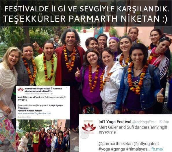 Parmarth Niketan Ashram'da muhteşem ve  sıcacık  karşılandık :) Rishikesh'e gelişimiz, Facebook ve Twitter resmi sayfalarından da duyuruldu...  Thank you very much for your kindness and warm welcome :) International Yoga Festival ___ #MertGüler #IYF2016 #RumiLoveMeditations #Rumi #Sufi #ParmarthNiketan #Rishikesh #MertGuler #Yoga #Festival #InternationalYogaFestival