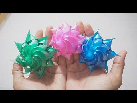 How to make ribbon Rose? วิธีพับดอกกุหลาบจากริบบิ้น - YouTube