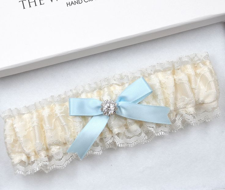 Ivory Lace Wedding Garter, Bridal Garter, Vinatge Garter, Wedding Garter, Cream Garter, Ivory Garter, Something Blue, Blue Garter, Garter by theweddinggarter1 on Etsy