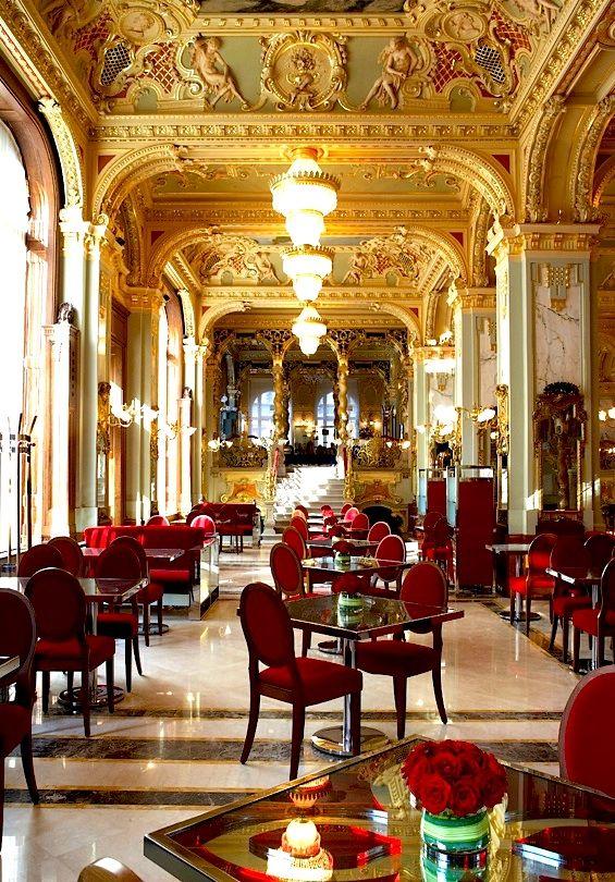 | ♕ |  Luxury Tearoom at Boscolo Hotel Budapest  | by © vistahungary | via ysvoice    (via ysvoice)