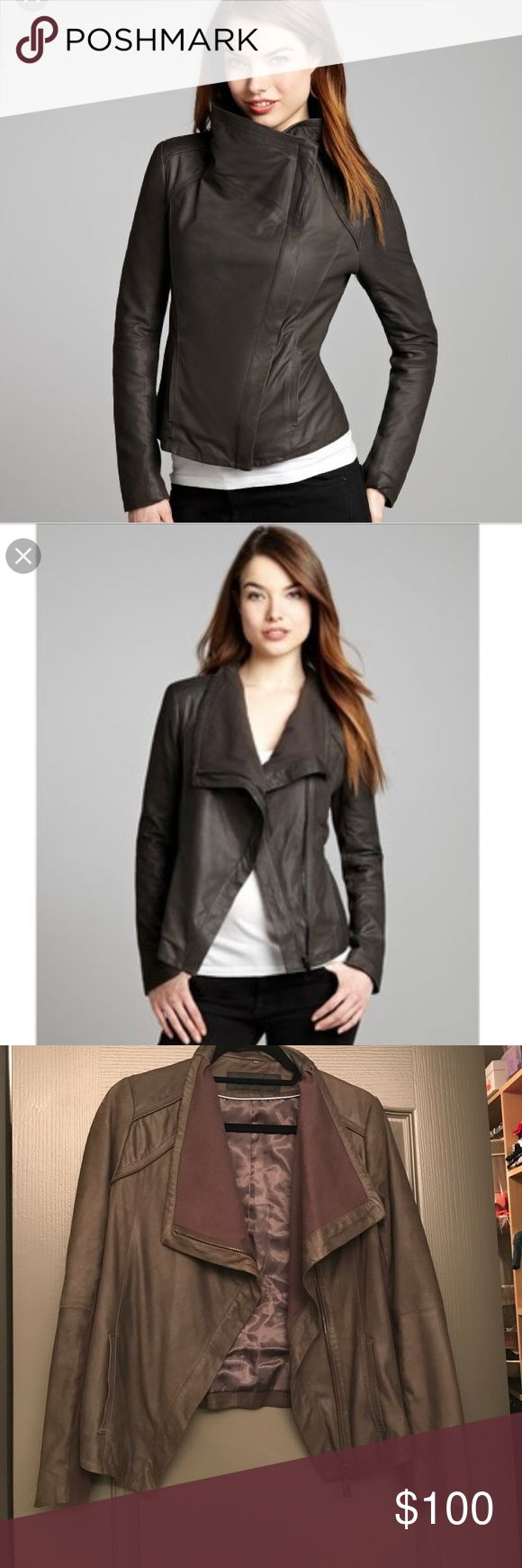 Eli Tahari Luxe Lambskin Leather Jacket - XS Ultra luxe and forever cool jacket! Awesome condition, small blemish in the left armpit area (not visible when you're wearing it) price to accommodate the blemish. Can be fixed at the dry cleaners or alterations place, this jacket is selling for over $500. Amazing piece . Elie Tahari Jackets & Coats