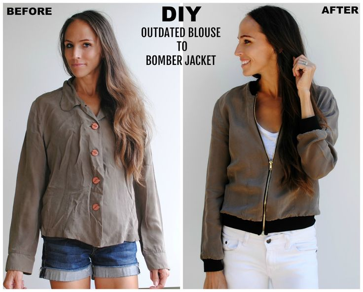 DIY Refashion: Outdated Blouse to Bomber Jacket
