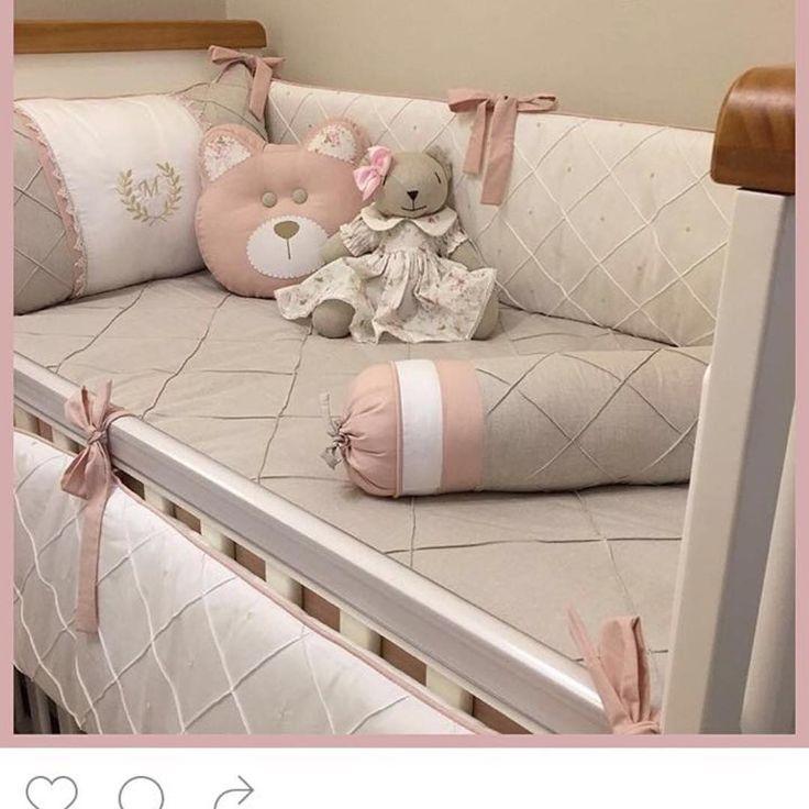 """420 curtidas, 23 comentários - Sweet Baby (@sweetbabyjf) no Instagram: """"Kit berço lindo pra menina: rosa e bege!!!! #sweetbaby #sweetbabyjf #lojadebebe #enxovaldebebe…"""""""