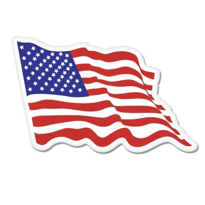 American Flag Waving Vinyl Sticker  Car Window Bumper Laptop  SELECT SIZE -- Want to know more, click on the image.