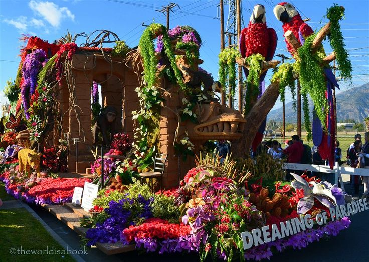 Viewing the 2013 Rose Parade Floats Up Close