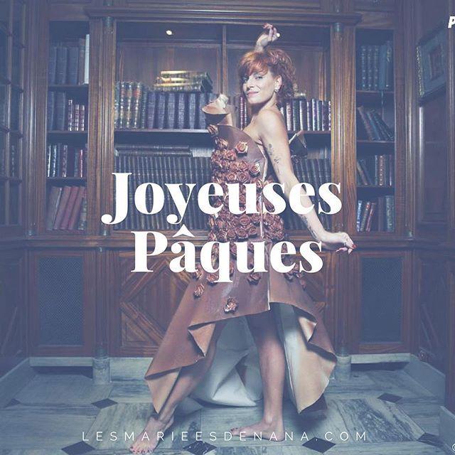 Joyeuses Pâques chez LMDN avec la belle @fauvehautot et sa robe en chocolat du @salonduchocolat #lmdn #paques #joyeuxpaques #nouveaute #dress #chocolatehttps://www.instagram.com/p/BS_RZMYBa1w/