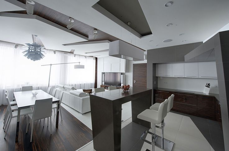 white apartment Dramatic All White Renovated Apartment in Moscow by Vladimir Malashonok
