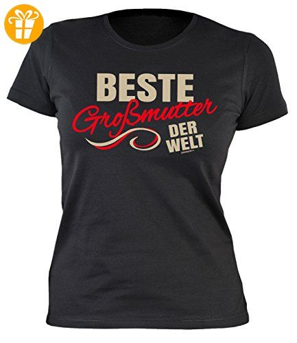 Sprüche-Shirt/Damen/Girlie-Shirt/Familien-Shirt Thema Oma: Beste Großmutter der Welt geniale Geschenkidee (*Partner-Link)