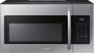 Samsung - 1.6 Cu. Ft. Over-the-Range Microwave - Stainless Steel - Front Zoom