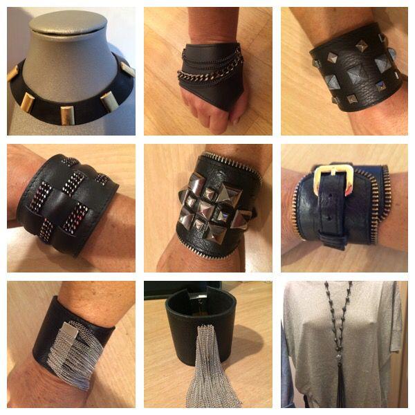 My leather bracelets....