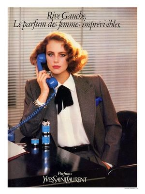 YSL Rive Gauche Perfume. I had the dress for success suit and bobbed hair too