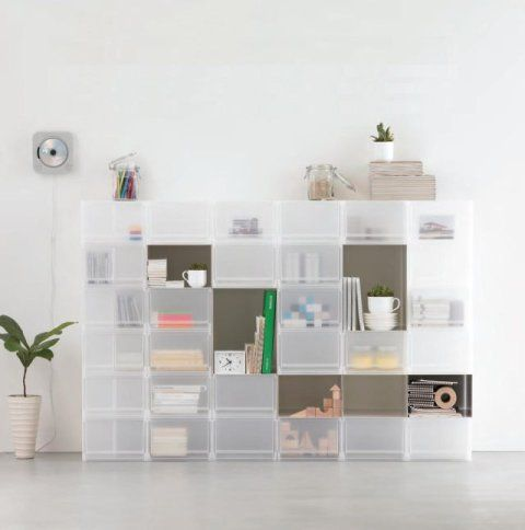 Storage by Muji. I love that these boxes are stackable!