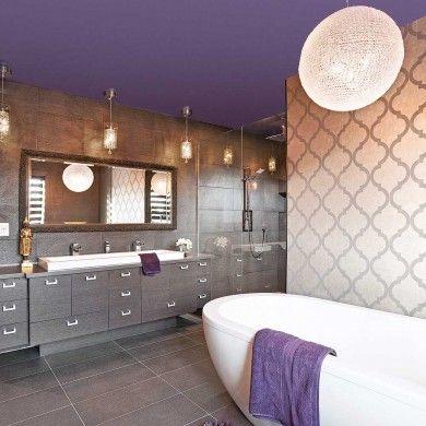 Les 25 meilleures id es concernant salle de bain mauve sur - Couleur taupe violine ...