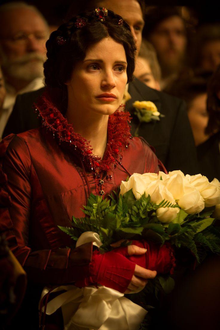 Jessica Chastain as Lady Lucille Sharpe in Guillermo del Toro's new film Crimson Peak (2015)