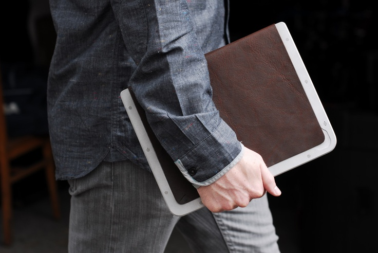 Just launched a kickstarter project. Minimalist aluminum/wood/leather iPad case. Check out the video and repin if you like it.