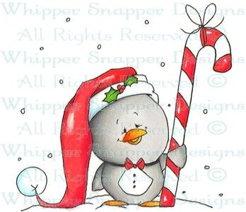 Piccolo Penguin - Christmas Images - Christmas - Rubber Stamps - Shop