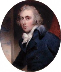 Earl Grey in an etching dated 1789 by James Sayers.  Charles Grey, the British Prime Minister who oversaw the introduction of the 1832 Reform Act (leading eventually to universal suffrage for all adults, genuine constituencies, and secret ballots), is best remembered for the tea which carries his name.