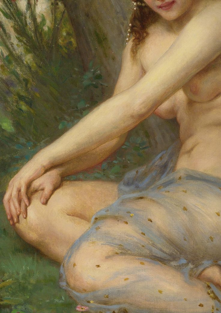 c0ssette:  The Forest Nymph,detail.Guillaume Seignac (1879-1924)