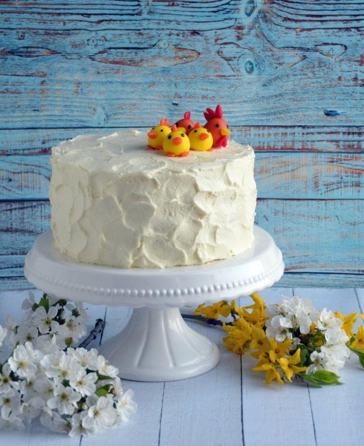 Húsvéti torta rusztikusan. Csokis paszternáktorta mascarponehabbal és karamellel. Easter cake, rustic style.