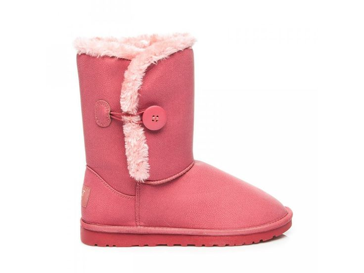 Ružové snehule s gombíkom Katka