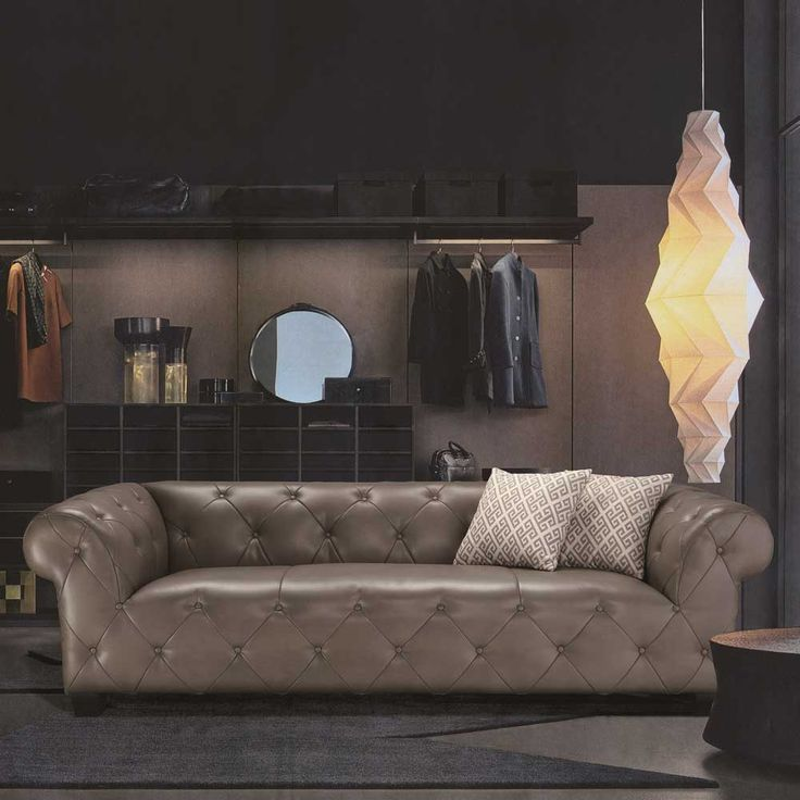 Sofa New York Designer Couch Grau 9451