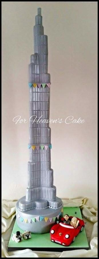 Burj Khalifa - Cake by Bobbie-Anne Wright (For Heaven's Cake) - CakesDecor