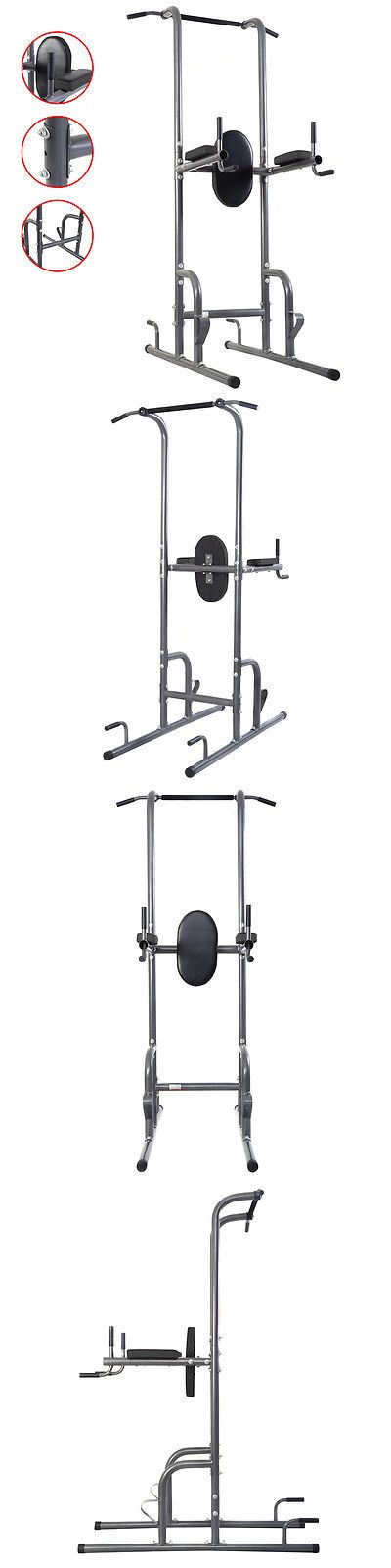 Pull Up Bars 179816: Dip Station Chin Up Tower Rack Pull Up Weight Stand Bar Raise Workout Home Gym BUY IT NOW ONLY: $105.99