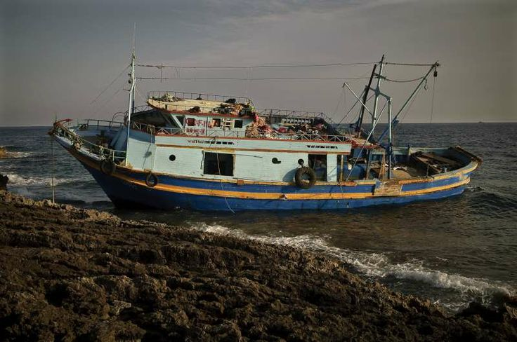 Three people died on this boat, which ran aground on Lampedusa after the dangerous journey from Libya.  ©UNHCR/F.Noy