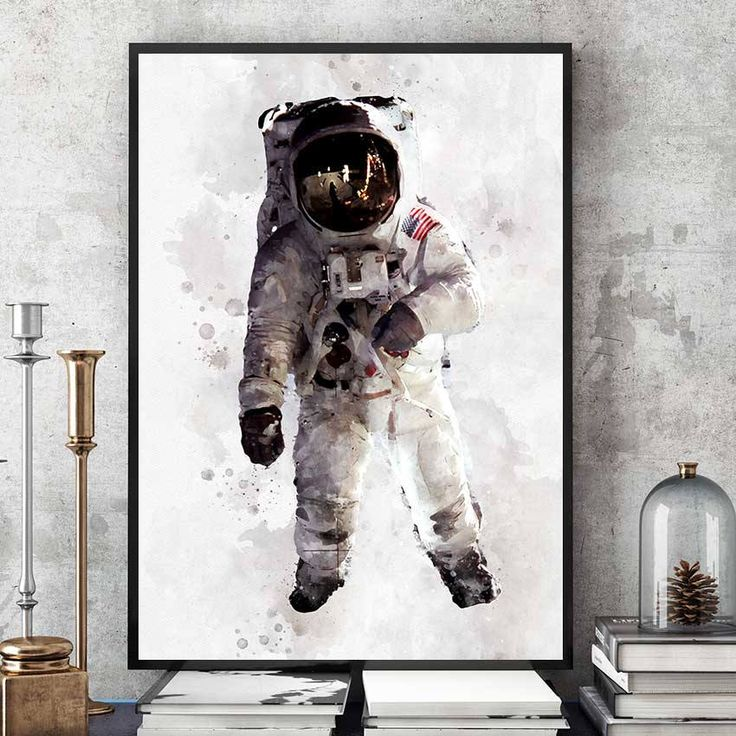 Astronaut Poster, NASA Print, Kids Room Astronaut Wall Art, Nasa Decor, Watercolour Space Art, Nursery Decorations, Giclee Art (N310) by PointDot on Etsy