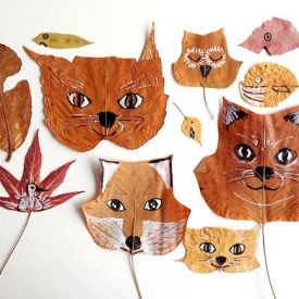 Turn your colorful fall finds into masterpieces with this leaf animal tutorial from Handmade Charlotte