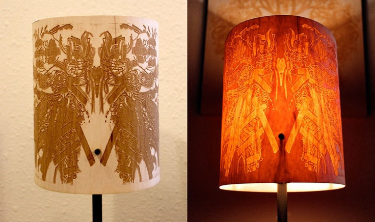 you design custom small engraved wood veneer lamp shade your own cnc laser cut lighting. Black Bedroom Furniture Sets. Home Design Ideas