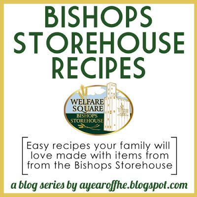 FREE Recipes made with ingredients from the LDS Bishops Storehouse! This would be a great resource for RS Presidencies and Ward Facebook Pages. More are being added weekly.