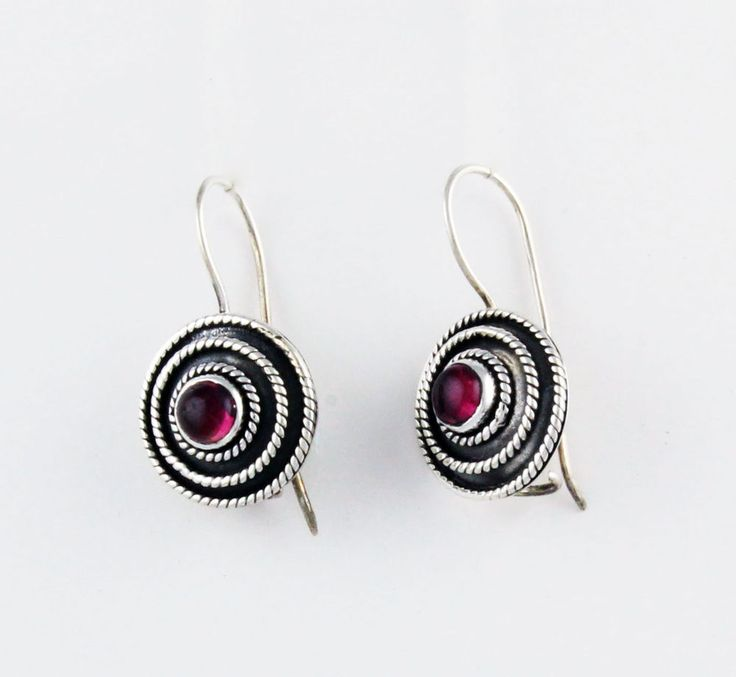 earrings solid 925 sterling silver jewelry pink Tourmaline gemstone handmade  #Unbranded