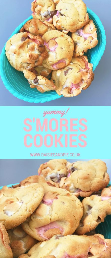 Our new favourite cookie recipe! Rustic no-fuss easy s'more cookies mmmmm eat them whilst they're still warm and they're extra good!