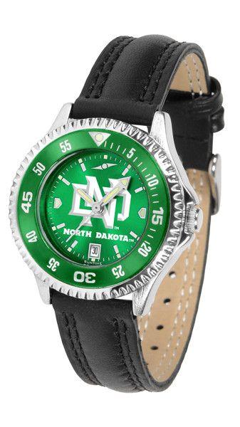 Ladies North Dakota Fighting Hawks - Competitor AnoChrome Watch - Color Bezel